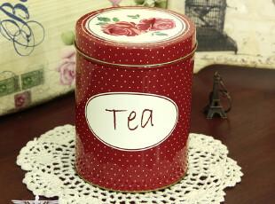 zakka欧式乡村田园复古风格马口铁皮创意茶叶罐密封罐储物罐,茶具,