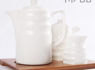 竹盘茶壶茶杯茶具套装 大容量大号茶壶 创意简约陶瓷茶壶,茶具,