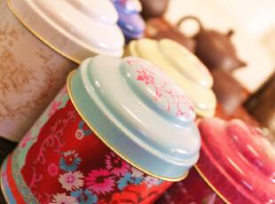 英伦复古超大号双层密封茶叶罐茶艺茶道铁盒糖盒茶叶盒 特价,茶具,
