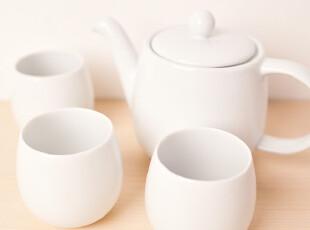 出口 外贸 尾单 陶瓷 水壶 高温白瓷 胚质细腻 茶壶套装 带滤网,茶具,