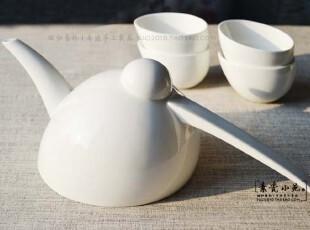 MUJI简约纯色系列  欧式设计优质骨瓷纯白陶瓷5头茶具,茶具,