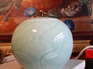 手工影青瓷 大茶叶罐 珍藏版 陶瓷茶叶罐 普洱茶茶叶罐可定做logo,茶具,
