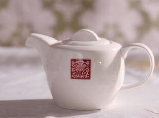 外贸出口陶瓷 新加坡名品 御阁莲花 茶壶 水壶 咖啡壶 中式经典,茶具,