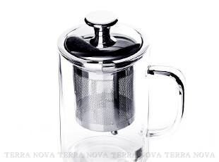 台湾品牌 CHIKAO 精选系列不锈钢滤网带盖茶杯 玻璃杯 水杯,茶具,