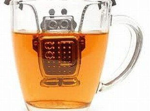 美国代购 Robot Tea Infuser 机器人金属冲茶器/茶包,茶具,