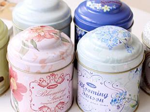 懒角落★创意家居 欧式复古 密封双层盖 铁质茶叶罐 储物罐 33493,茶具,