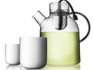 丹麦MENU原装进口 最完美组合 多重感官透明玻璃茶壶骨瓷杯套装,茶具,