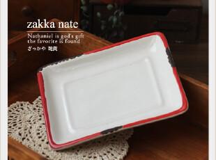zakka杂货 日单仿搪瓷盘子 陶瓷茶盘 复古做旧盘子 拍摄道具,茶具,