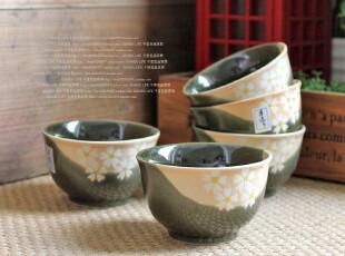 千度悠品 日式和风 陶瓷餐具 茶具 茶杯 5入樱花反口杯 礼盒,茶具,