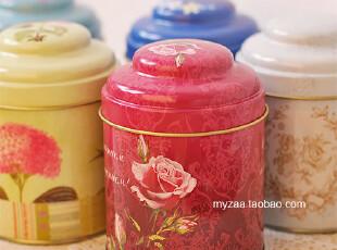 zaa杂啊 茶物语-清新碎花系集合 密封双层盖铁盒 铁皮茶叶糖果罐,茶具,
