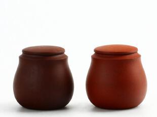 栖凤家居 宜兴正品紫砂 袖珍迷你紫砂茶叶罐 香粉罐 香道罐子,茶具,