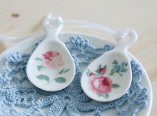 『韩国网站代购』很清新的田园浪漫花朵茶匙,茶具,