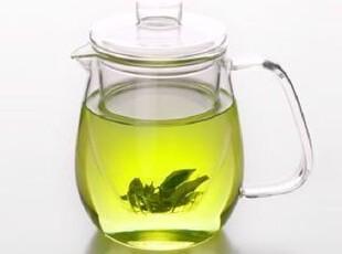 手工吹制 耐热玻璃花茶壶 过滤三件式立式花草茶壶 650ml冷水壶,茶具,