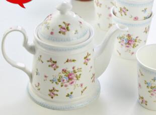 包邮新品 陶瓷套装茶具5件套 咖啡具 清新田园风 韩式茶具 小时光,茶具,