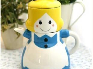 ★公主梦想★韩国家居*来自日本*爱丽丝*可爱造型茶壶W460,茶具,