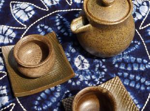 高温窑变粗陶茶道二人组5件套 洱海岁月 LEUNG'S HOME简茶道系列,茶具,