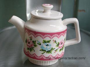 FEN ZAKKA 杂货 北欧陶瓷茶壶(玫瑰),茶具,