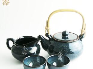 【不器】家 日式粗陶 天目釉钧釉茶具套装 原价140  特价63,茶具,