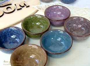 冰裂陶瓷日式茶杯/茶碗 和风日式陶瓷茶杯/茶碗 收集控 6色,茶具,