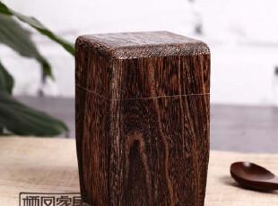 日式烧桐木家具 烧桐古典手工艺方型茶叶罐 茶叶盒(小)原单,茶具,