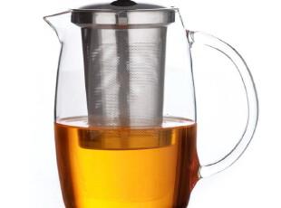 teatime原装迪维亚茶壶 法式时尚不锈钢内胆大容量玻璃茶壶1200ml,茶具,