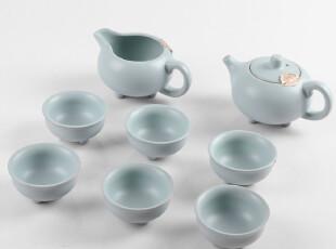 汝窑系列/天青色/3只脚/功夫茶具/礼盒包装,茶具,