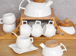 2012-新款外贸日式MUJI风格原木16头茶具套装 送原木底座 原单,茶具,