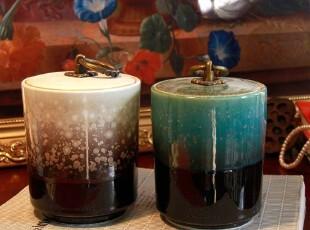 新品 手作瓷 窑变茶叶罐 两款 普洱茶茶叶罐 陶瓷茶叶罐,茶具,