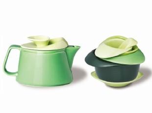 丹麦PO: Rose Teapot Set 玫瑰茶壶套装/茶壶+茶杯 绿色,茶具,