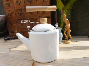 ZAKKA  【日本一口一工房】纯白系列2L中式搪瓷茶壶 冷水壶烧水壶,茶具,