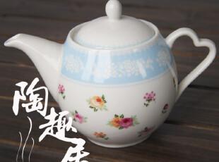 出口高档陶瓷茶壶 小碎花 田园风格  日本原单陶瓷,茶具,