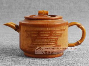 贾字茶壶|天然茶具|竹制品茶壶|功夫茶具|水杯茶杯|工艺品,茶具,