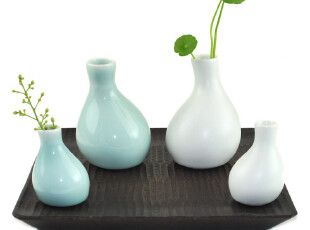 佐格茶具 景德镇手工小花瓶茶道小花器 花插 陶瓷个性摆件小花器,茶具,