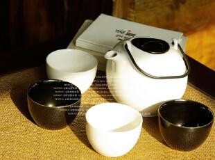 北陆工匠/特供1套/MUJI风格禅意简约/玄素陶瓷茶具5件套装,茶具,