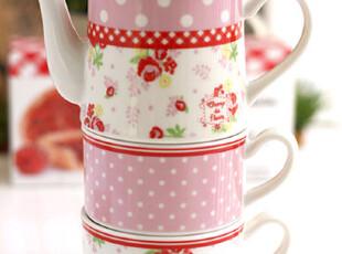 『韩国网站代购』玫瑰点点浪漫两人用茶具组,茶具,
