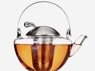 Vatiri 不锈钢提梁壶 过滤式花草茶壶 玻璃茶具 三件式泡茶 850ml,茶具,