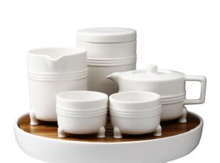 台湾JIA INC 弦纹茶组 6件套 白色 完备的品茶组合,茶具,