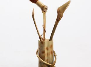 原生态竹茶配件 茶道配件套装 茶夹茶勺 养壶笔 功夫茶具配件,茶具,