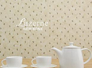 卢泽恩壶杯 白色 陶瓷 茶壶茶杯 5件套,茶具,