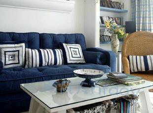 宜家欧式地中海白色家具实木方形小茶几现代简约时尚边几,茶几,