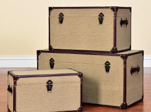 奇居良品 欧式美克美家风乡村实木家具柜 萨芬茶几边几收纳箱,茶几,