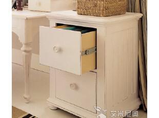 艾米尼奥客厅地中海家具 实木家具实木斗柜收纳柜白色边几 Y2172,茶几,