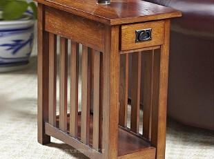 外贸原单 美式家具 复古/古典 简约 沙发边桌角几/边几/电话几,茶几,
