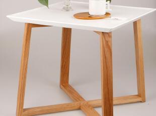 美居新思 日式简约方形边桌 白色现代沙发边桌 茶几,茶几,