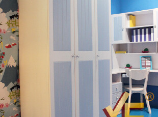雅思洛 儿童房家具 儿童衣柜 衣橱 韩式衣柜 三门衣柜 A-92E,衣柜,