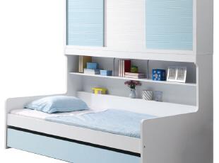 【满2000减200】火图腾 儿童家具 儿童床衣柜床 多功能组合套房床,衣柜,