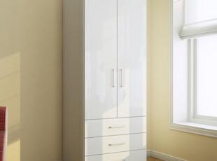 包邮特价 两门衣柜 衣橱 带抽屉 简约 时尚 现代 宜家 卧房 家具,衣柜,