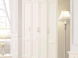 【方格诚品】 韩式田园家具 四门衣柜 拉门衣柜 实木衣柜,衣柜,