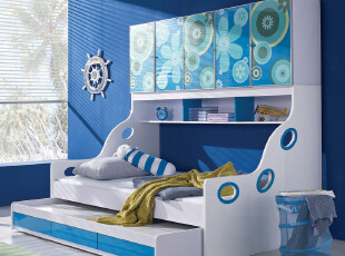IKAZZ 爱家私 儿童家具 组合床 衣柜床 子母床 儿童床 包物流 602,衣柜,