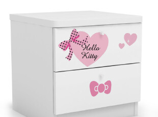 hello kitty家具儿童床头柜 储物柜收纳柜子 公主可爱粉红系列 白,衣柜,